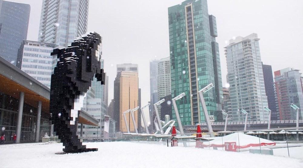Vancouver snow jack poole plaza snowfall