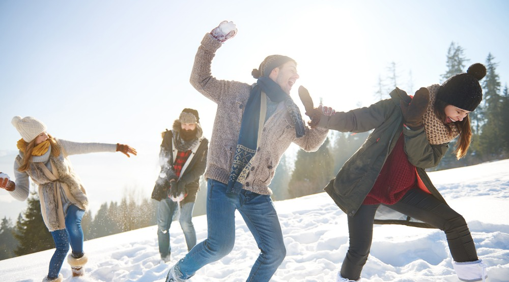 Snow winter snowball fight