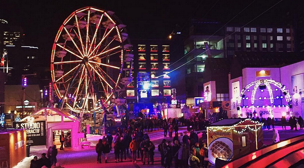 A lit up ferris wheel is coming to Montreal this month