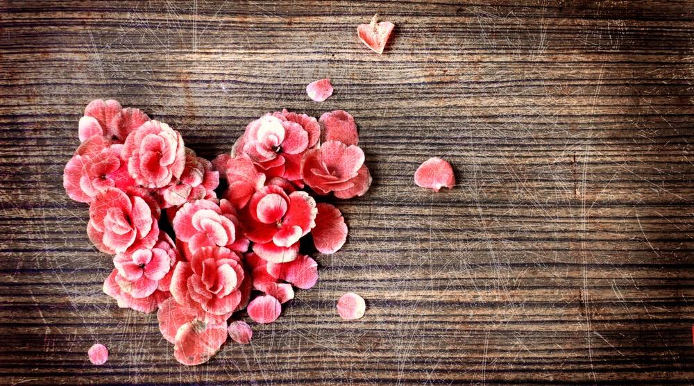 Heart from flowers shutterstock
