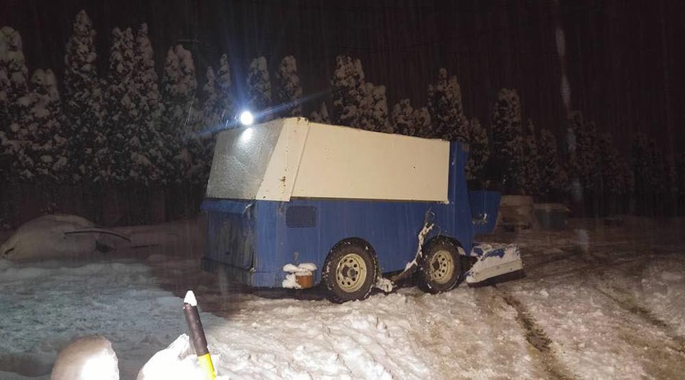Police stop BC man attempting to clear snow with zamboni