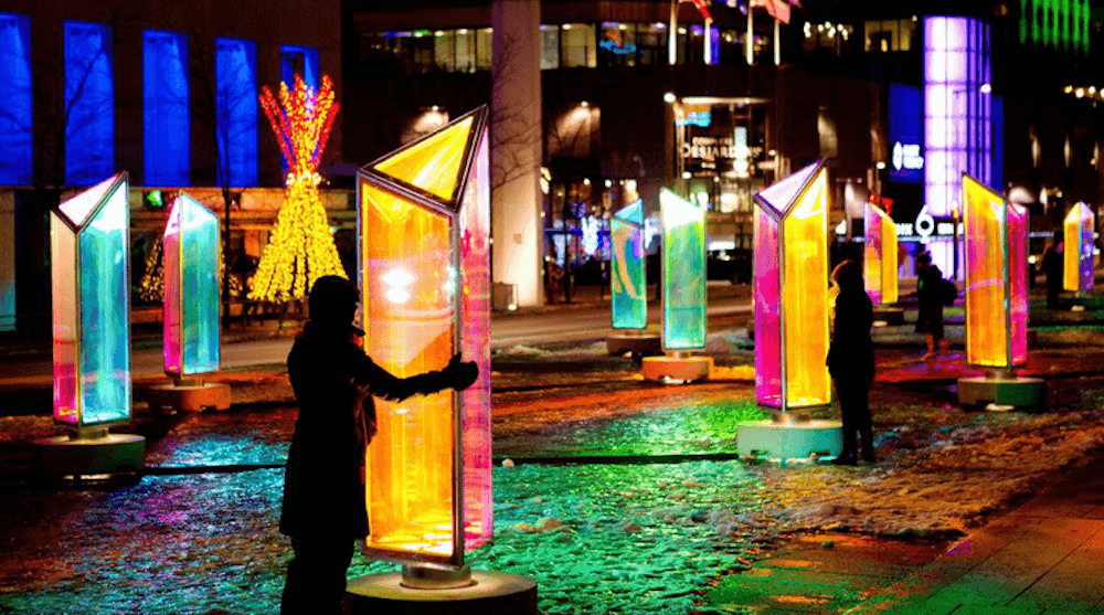 Beautiful light installations to take over Calgary with GLOW Downtown Winter Lights Festival