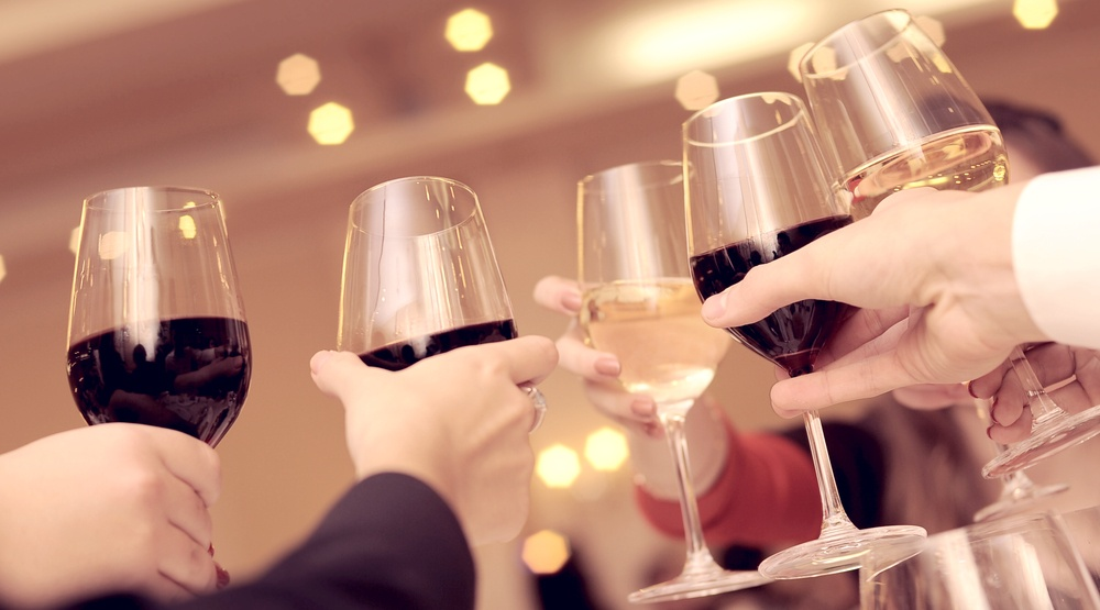 Wine glasses celebration group