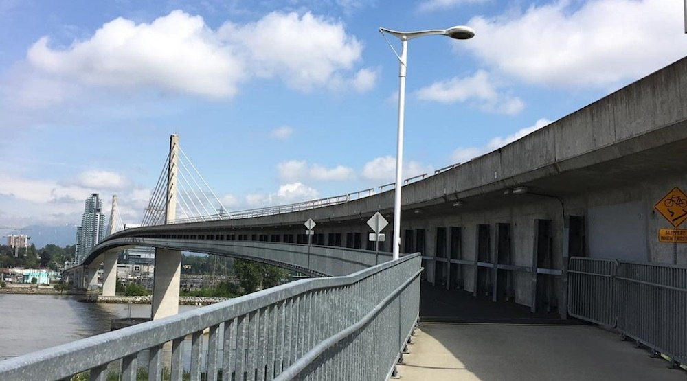 North arm bridge canada line fraser river skytrain bike pedestrian