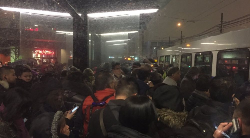 UPDATED: Major delays on Canada Line due to snowfall, no service to YVR Airport Station