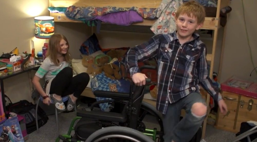 Variety changed this boy's life with a new wheelchair