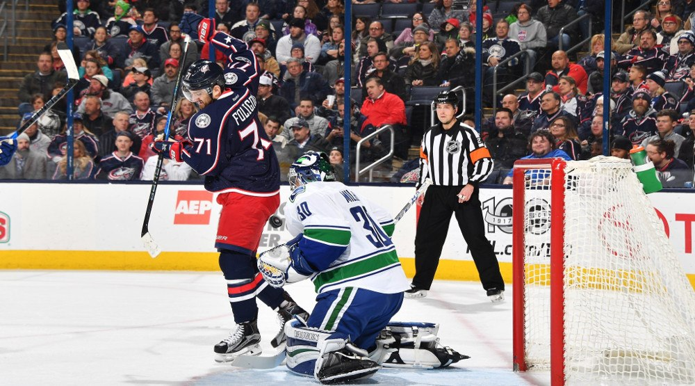 Ryan miller bluejackets feb 9th 2017