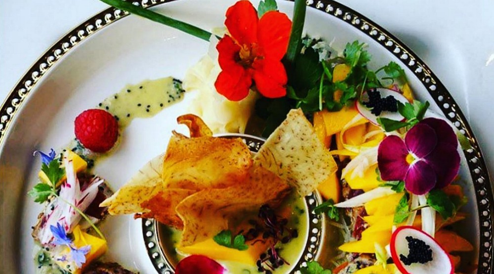 You can get edible flower sushi for Valentine's Day at this Montreal eatery