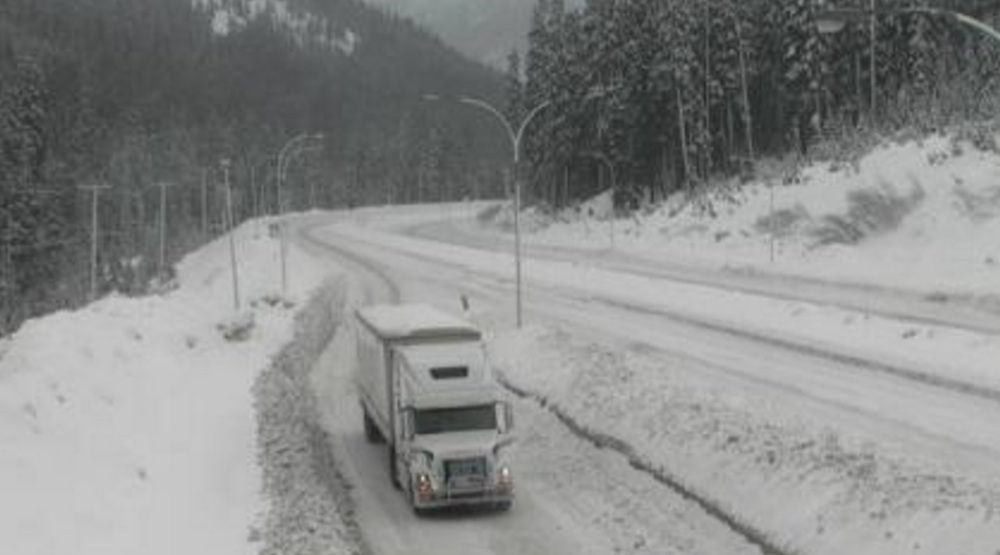 Snowfall warning issued for Coquihalla Highway and Highway 3