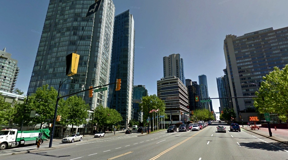 Part of Downtown's West Pender Street could lose 2 lanes for new bike lane