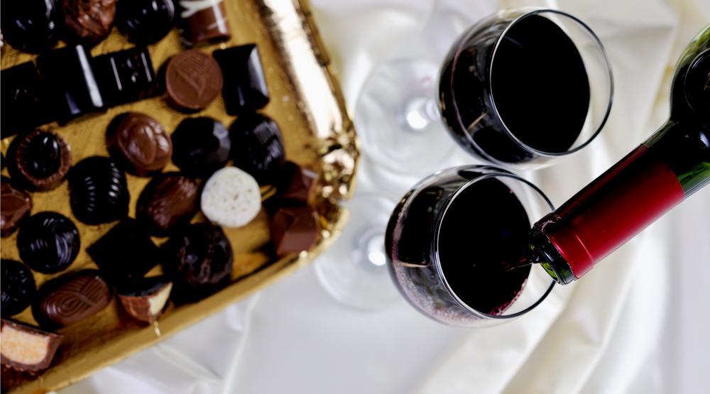 Wine chocolates