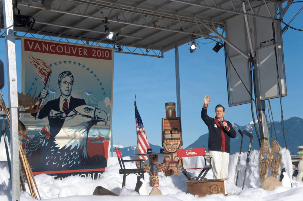 Colbert report vancouver set