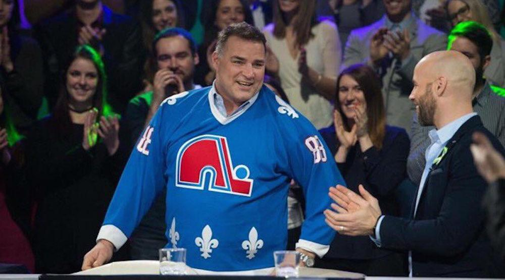 Eric Lindros finally puts on a Quebec Nordiques jersey