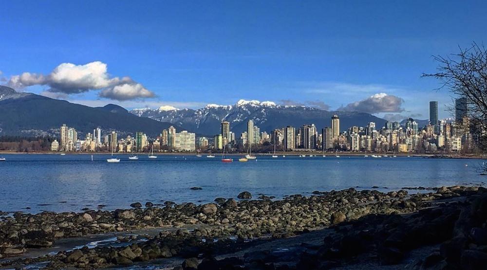 Vancouver skyline beach