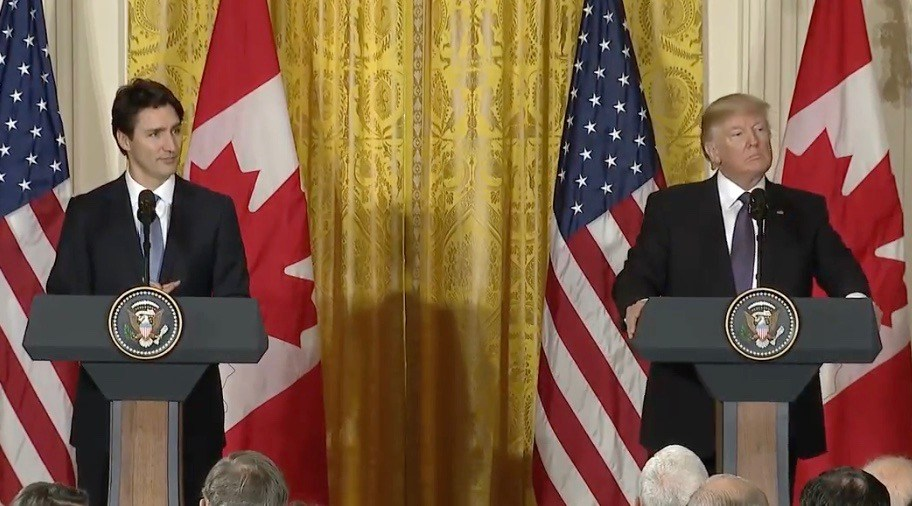 Everything that happened at Donald Trump and Justin Trudeau's joint press conference