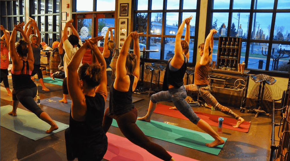 Kombucha Cocktails & Yoga this month at Eau Claire Distillery