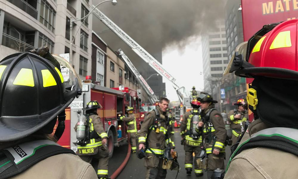Toronto fitness club destroyed after Tuesday's massive fire at Yonge and St Clair (PHOTOS)