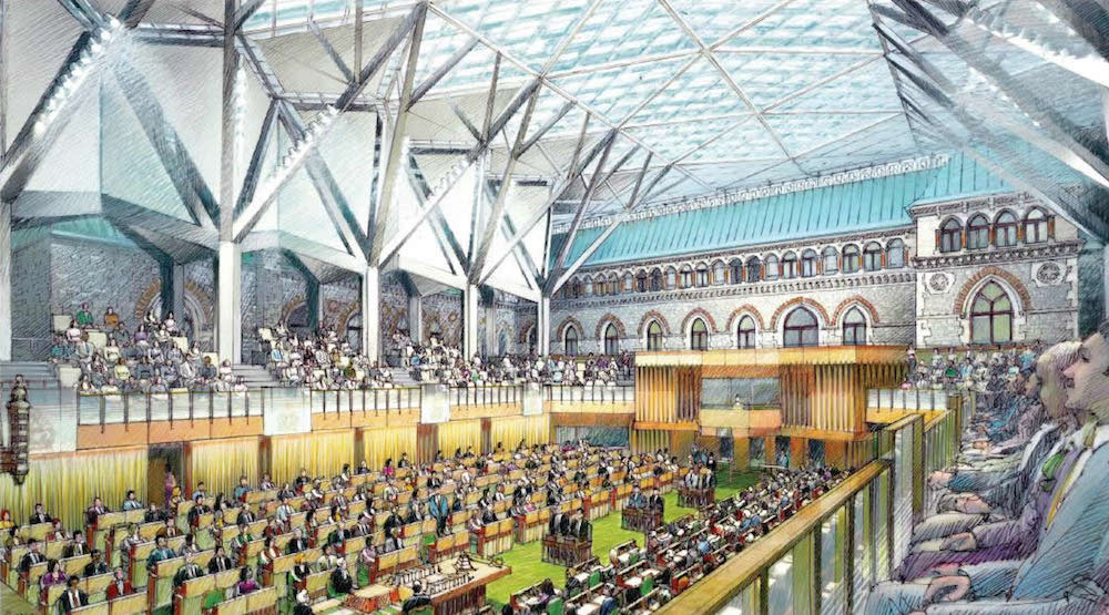New glass-roofed House of Commons opens this year as part of Parliament Hill retrofit