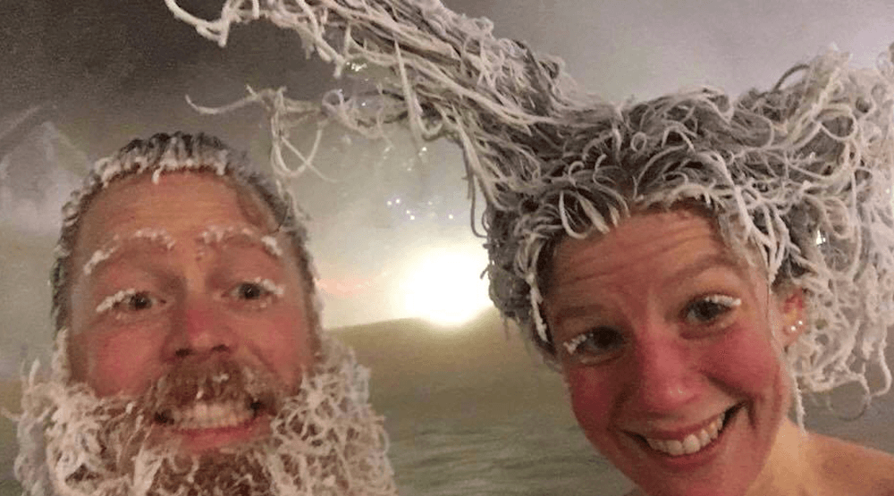 It's so cold at this Canadian hot spring that it's freezing people's hair (PHOTOS)