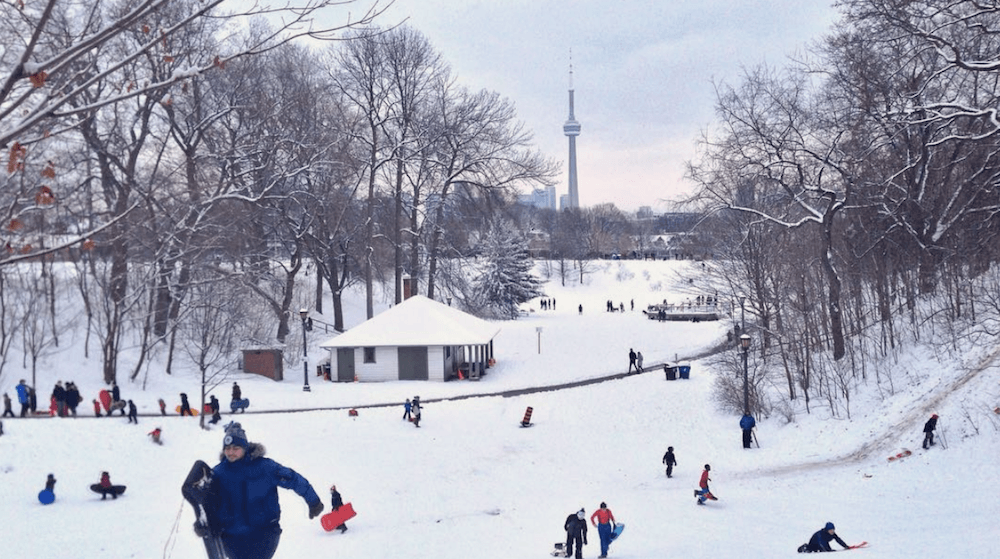 It looks like Toronto is going to have a white Christmas this year