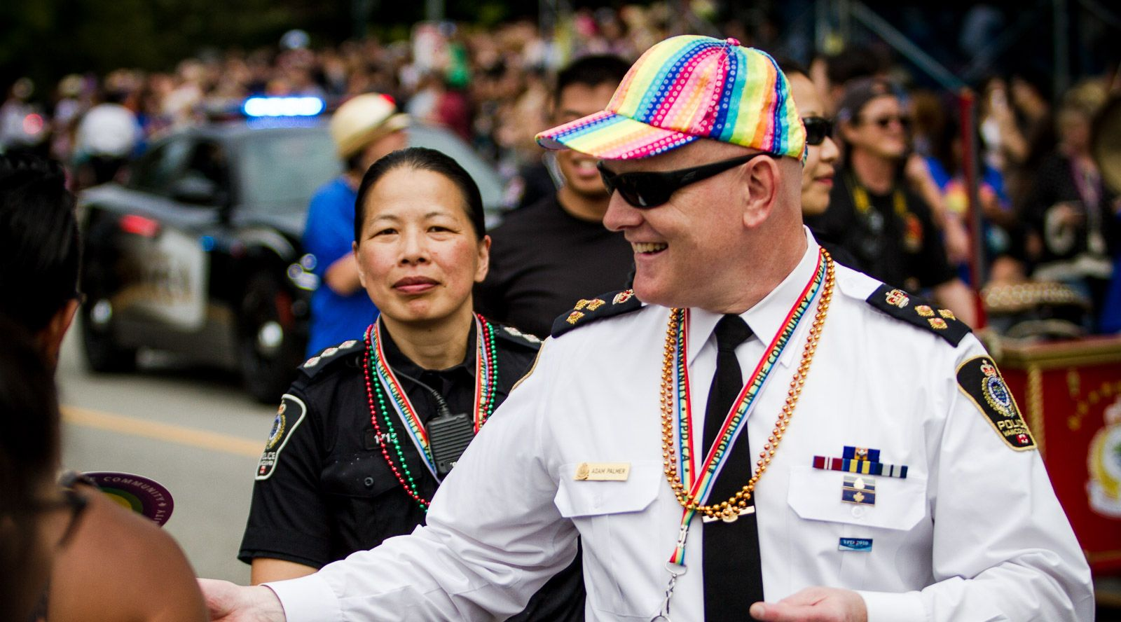 Vancouver police chief adam palmer at the pride parade in 2016 dustan sept flickr
