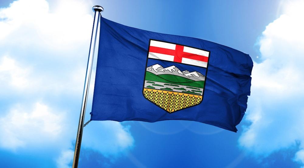 Alberta flag shuttetstock