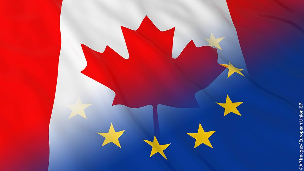 Canada and eu flag european parliamentfacebook