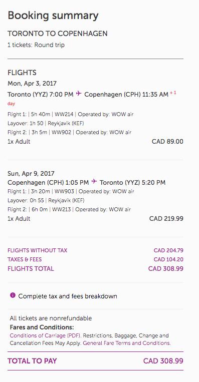Toronto to Europe $90