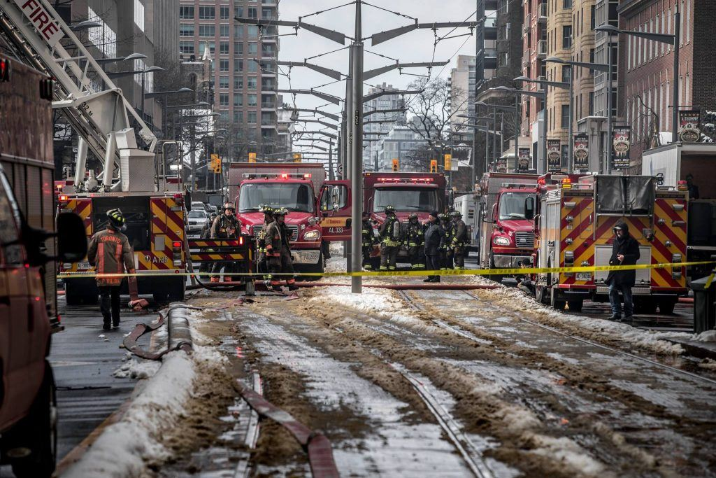 Toronto Fire Fighters Yonge and St. Clair Fire