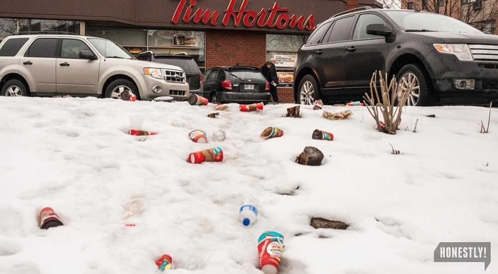 Canadians across the country are furious about Tim Hortons' non-recyclable cups