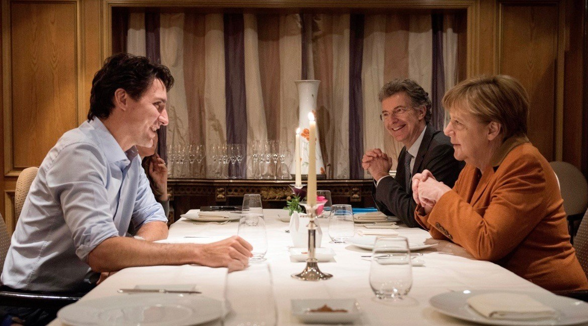 Trudeau and Merkel have candlelight dinner, Twitter delights in memes (PHOTOS)