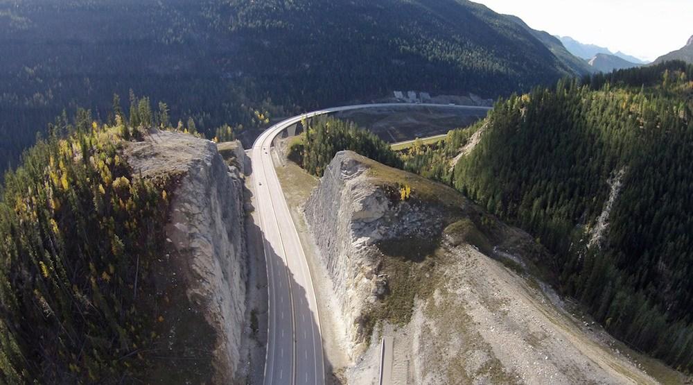 Kicking horse canyon trans canada highway 1