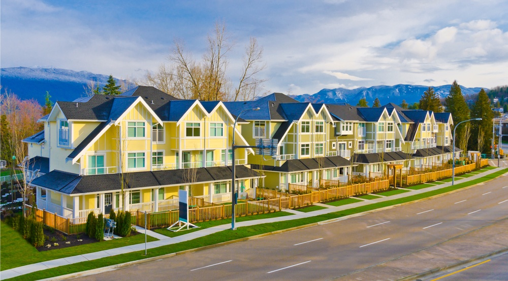 Row of townhomes in vancouver shutterstock