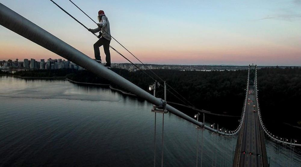 You could soon take guided climbing tours to the top of the Lions Gate Bridge