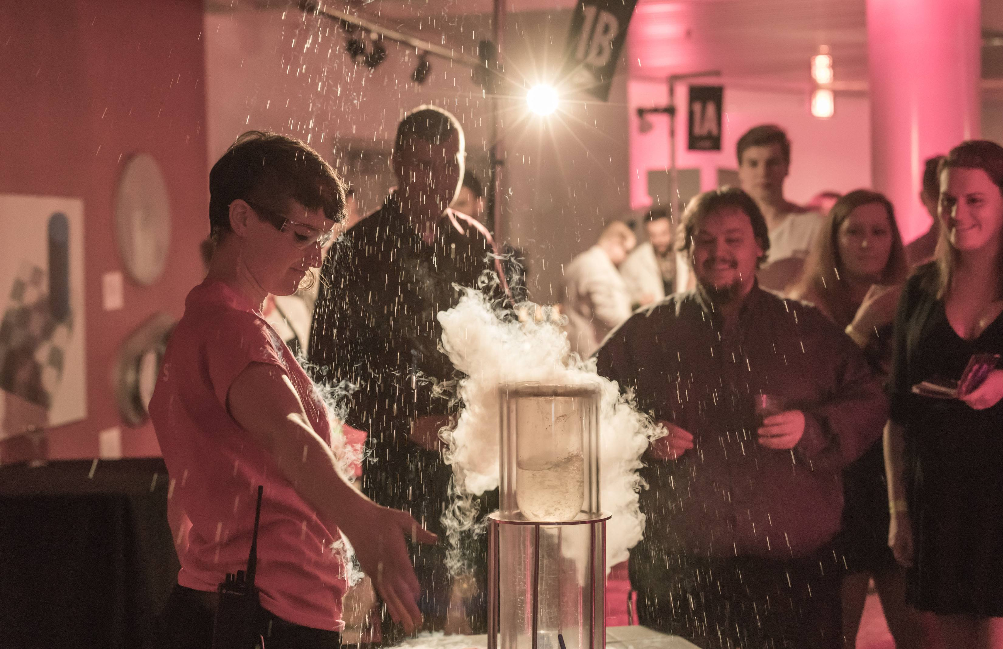 A science demonstration at Science of Cocktail (Picture Listen Photography)