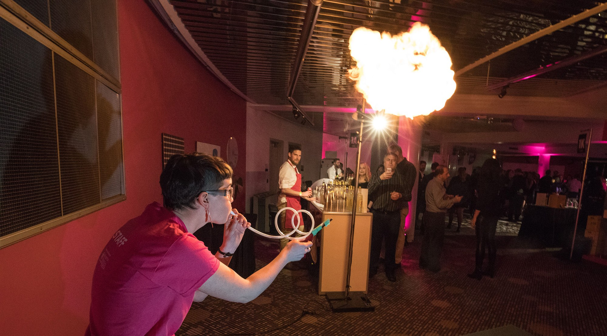 Fiery science show at science of cocktails picture listen photography