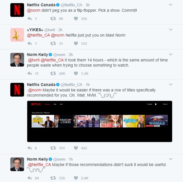Norm Kelly Netflix Canada Twitter