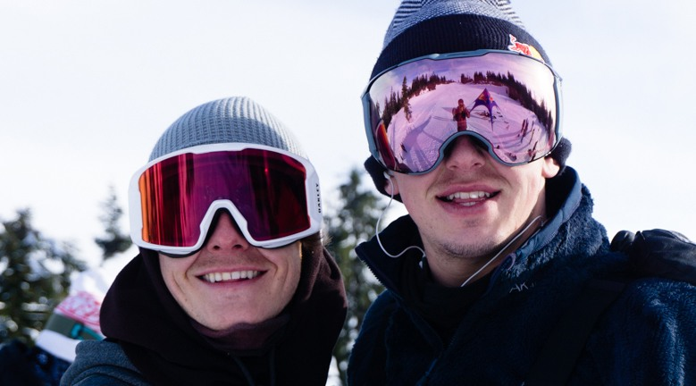 Slope style snowboarding superstars Mark McMorris and Seb Toots (Red Bull)