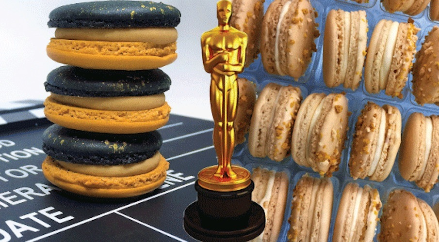 Your Oscars party needs these Rum & Coke and Popcorn macarons