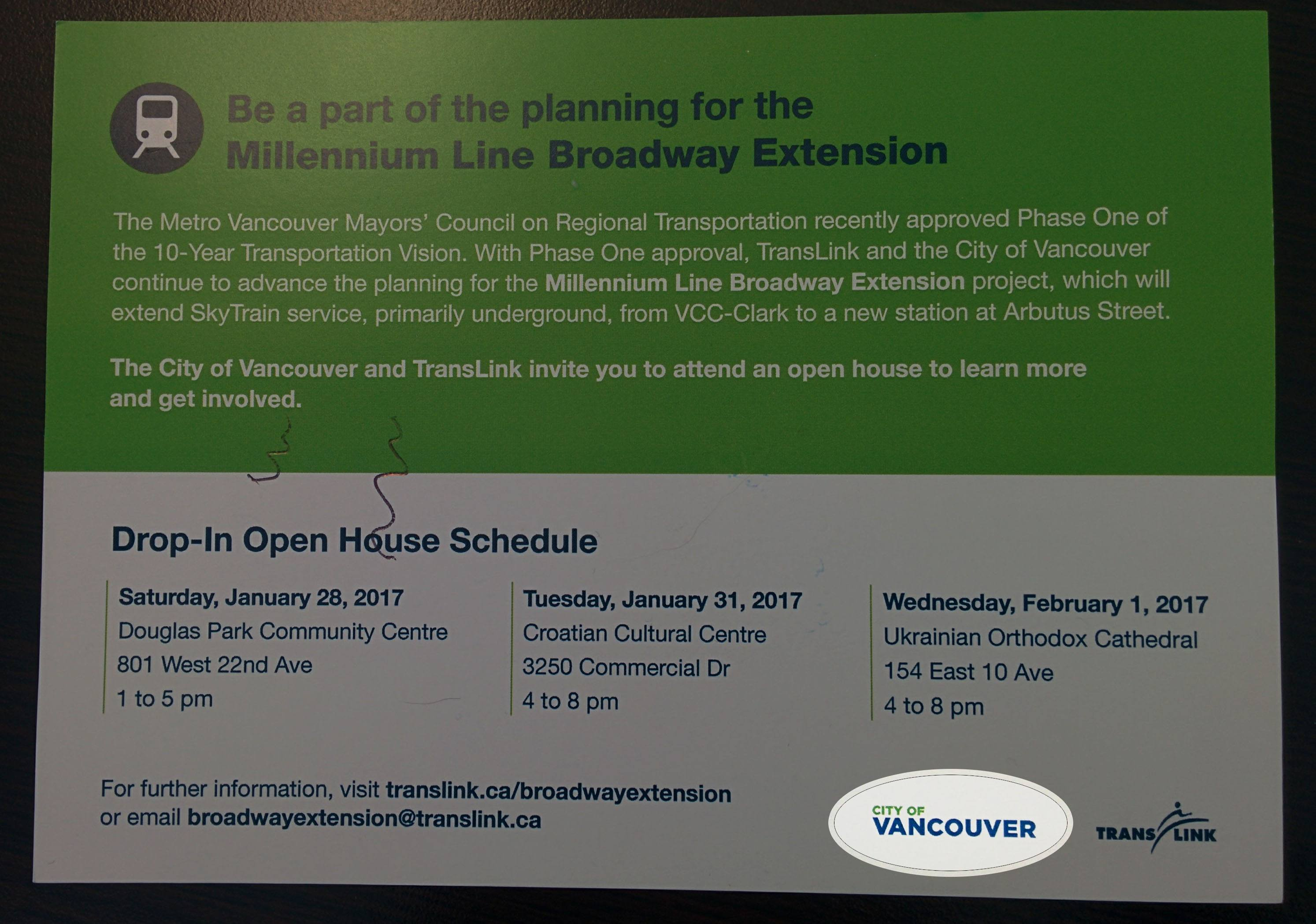 New City of Vancouver wordmark already being used on open house invite (Daily Hive)