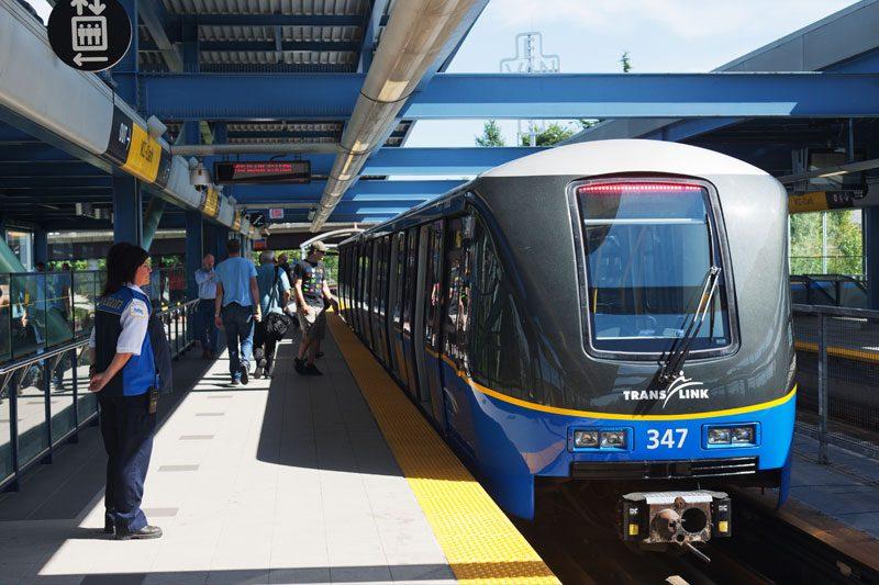 A millennium line skytrain translink