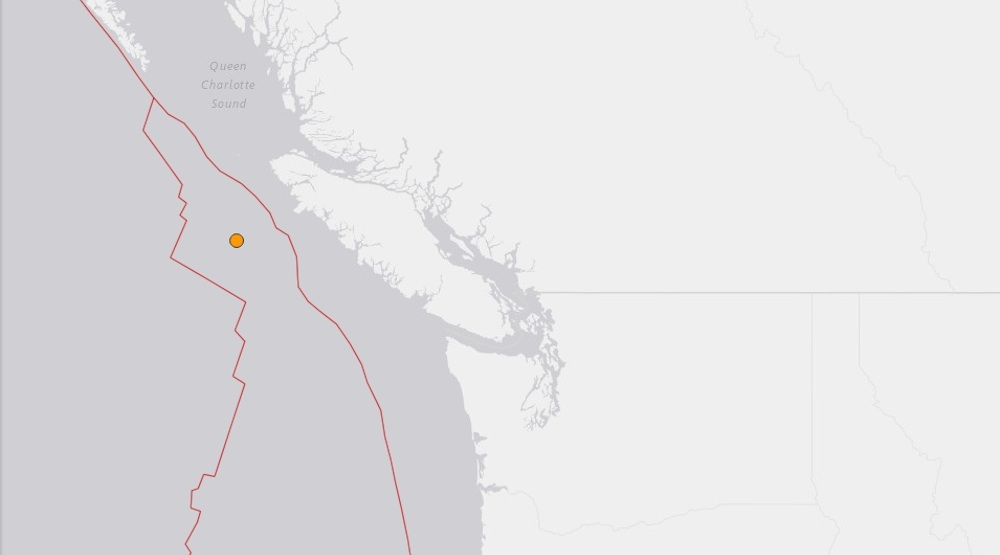 Magnitude 4.9 earthquake detected off Vancouver Island coast