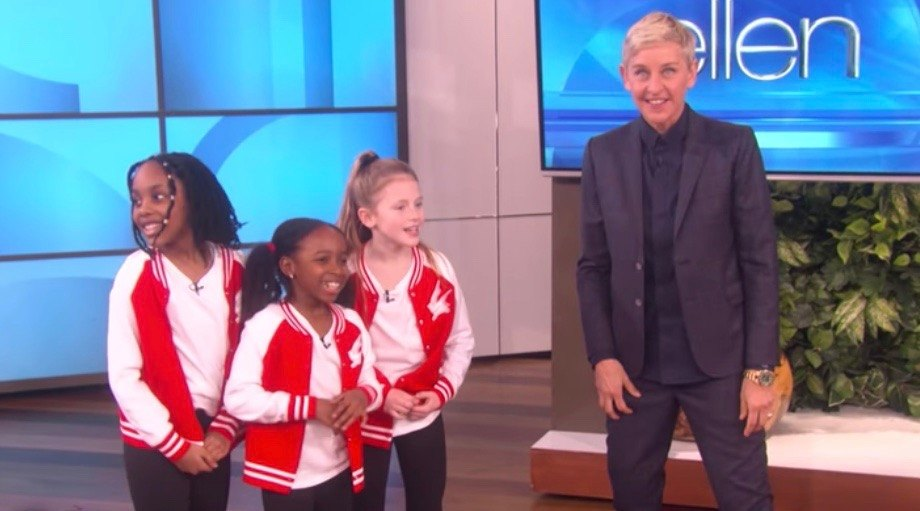A trio of young Canadian dancers end up on Ellen after adorable tribute (VIDEO)