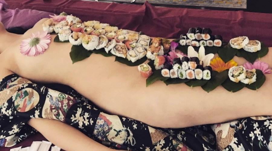 Food on nude women