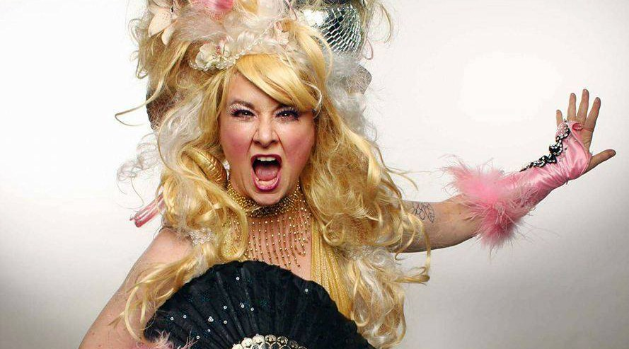 Burlesque satire artist jenny magenta variety of queers