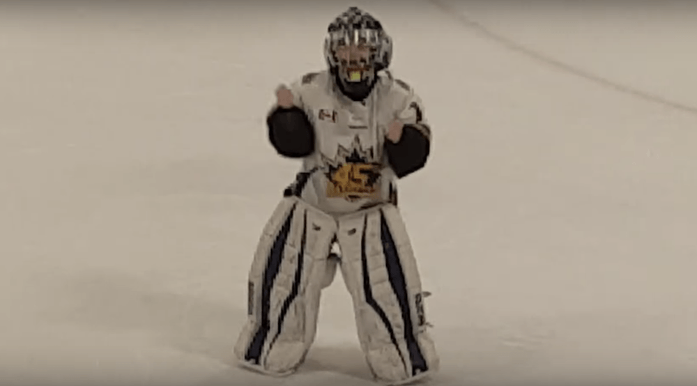 8-year-old Ontario goalie's dance to 'JuJu on that Beat' on ice has gone viral (VIDEO)