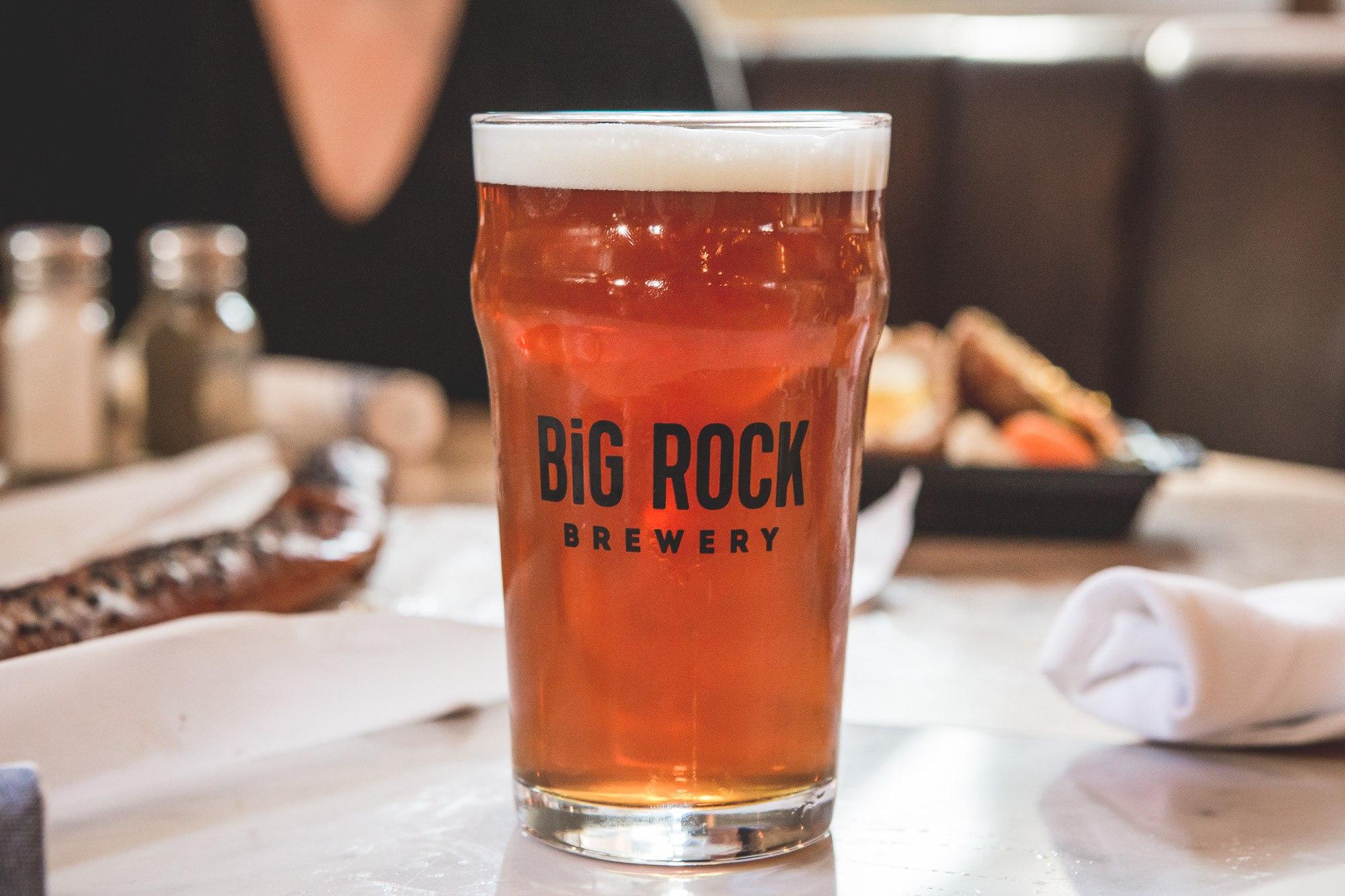 Big Rock Liberty commons pub beer