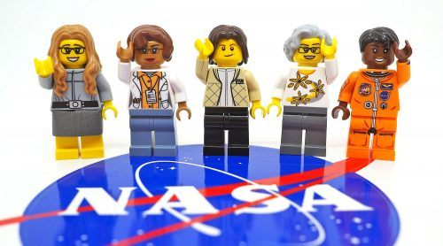 Mockups of the five minifigs in the new Women of NASA LEGO set (Maia Weinstock/Flickr)