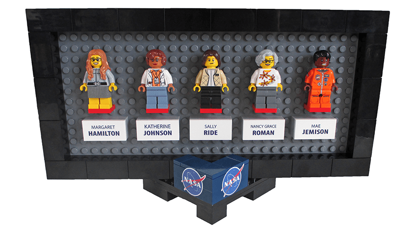 A mockup of the new Women of NASA LEGO set (Maia Weinstock/Flickr)
