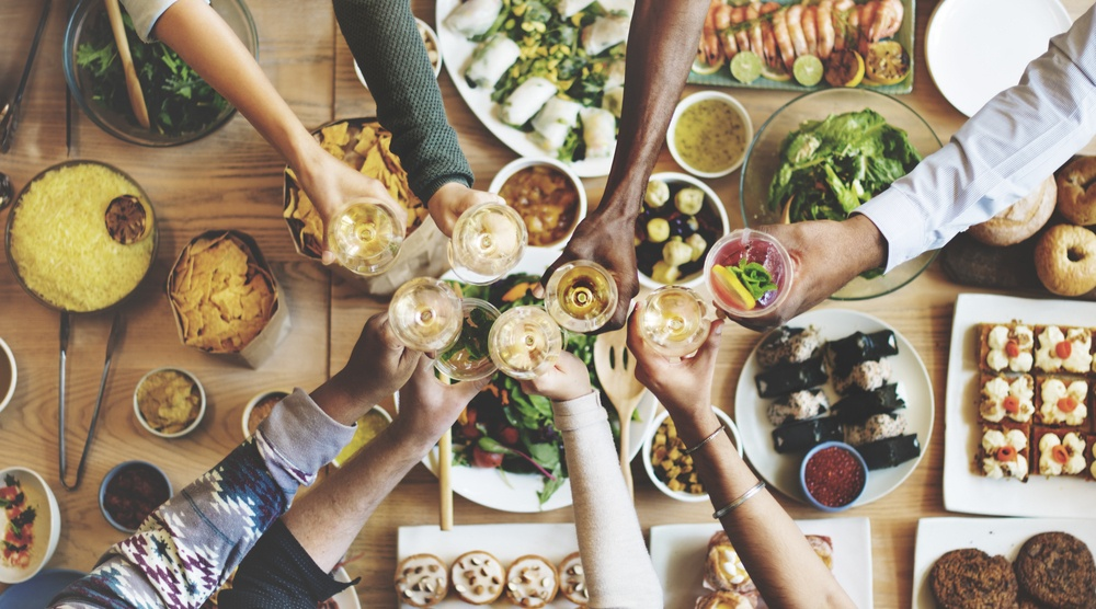 Friends dinning shutterstock